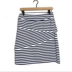 J. McLaughlin Striped Tiered Skirt Size Small